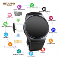 2019 New KW18+ Clock Smart Watch Android Health Tracker MTK2502c Bluetooth Notification Support SIM TF Card for Samsung Xiaomi