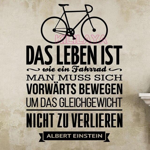 Was Ist Vinyl sticker german das leben ist wie ein fahrrad vinyl wall stickers