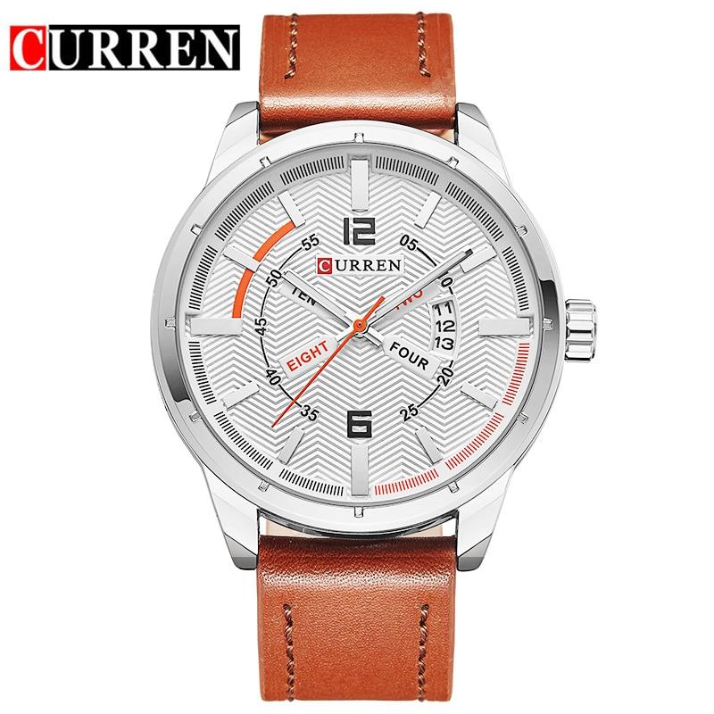 Reloj Hombre Mens Watches Top Brand Luxury Watch Men Leather Waterproof Fashion Wristwatch Business Quartz Watches Men 2018