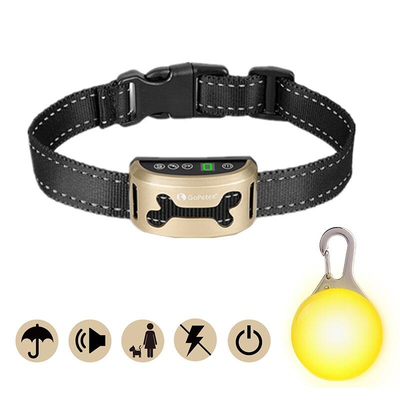 Colliers de dressage pour chien de compagnie collier Anti-aboiement Rechargeable Train de contrôle étanche arrêt aboiement chien étanche ultrasons #30