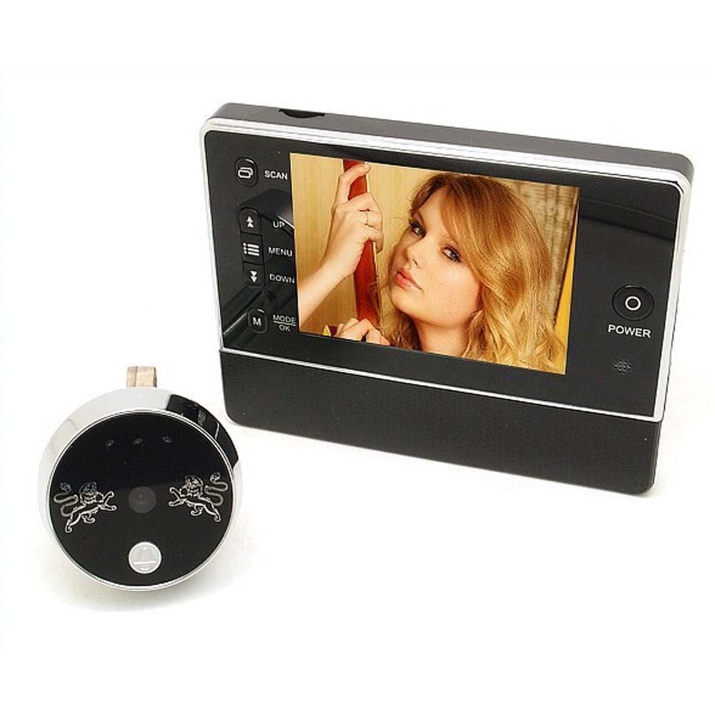 3.5 Inches TFT LCD Screen Peephole Digital Doorbell Camera Peep Hole Viewer Door Camera Night Vision 120 Degree Angle Viewing