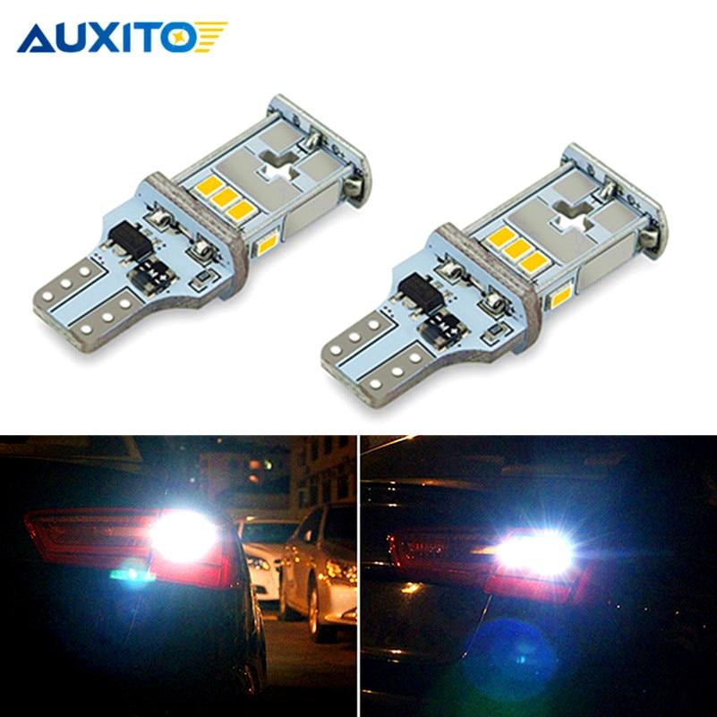 2pcs W16W LED T15 Canbus Backup Reverse Bulb Error Free 912 921 6000K Car LED Turn