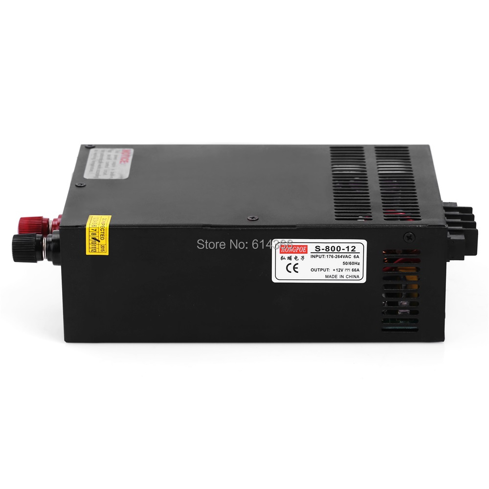 5pcs Industrial grade power supply 800W 12V Power Supply 12V 66A AC-DC High-Power PSU 800W 220V S-800-12 12V66A цены онлайн