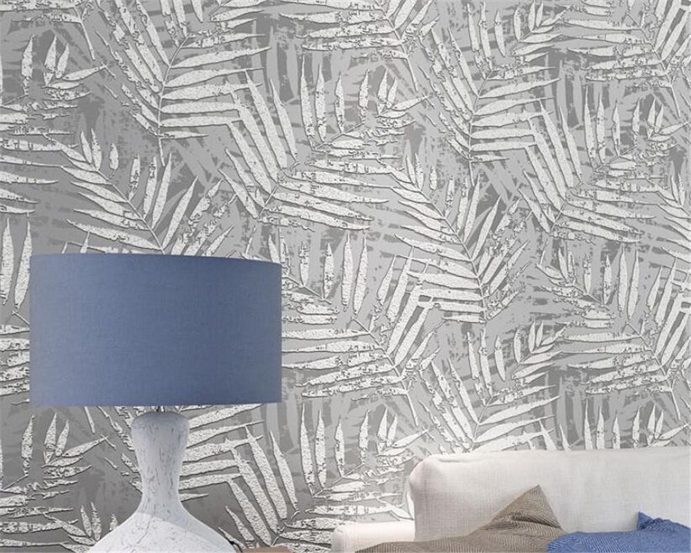 papel de parede Modern Banana leaves wallpaper bedroom living room TV background 3d wall papers home decor behang Beibehang beibehang modern simple wide stripe wallpaper for living room bedroom tv background home decor wall paper papel de parede 3d
