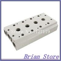 Weiß Block Pneumatische Steuerung 4-Station Magnetventilblock Basis