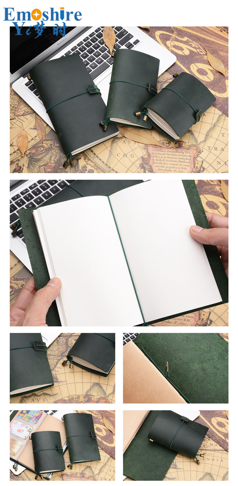 Notebook Retro Inserir Termos Loose-leaf Diário bloco