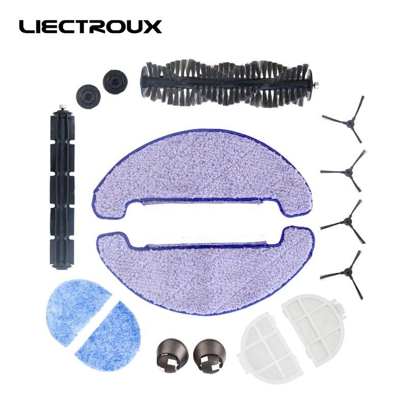 (für X5s) Reinigungsroboter Liectroux, Seitenbürste * 4, Roller Pinsel * 1, Fellbürste * 1, Mopptuch * 2, Hepa-filter * 2, Primärfilter * 2 Vorderrad * 2
