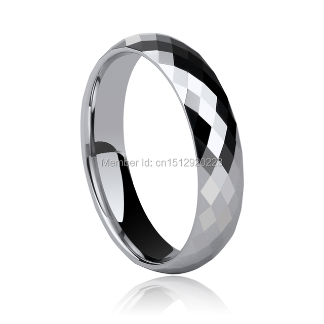 Free Shipping and Free Engraving Wedding Tungsen Ring For Man/Woman Jewelry With Size 4-15 Ring Pairs Silver Color