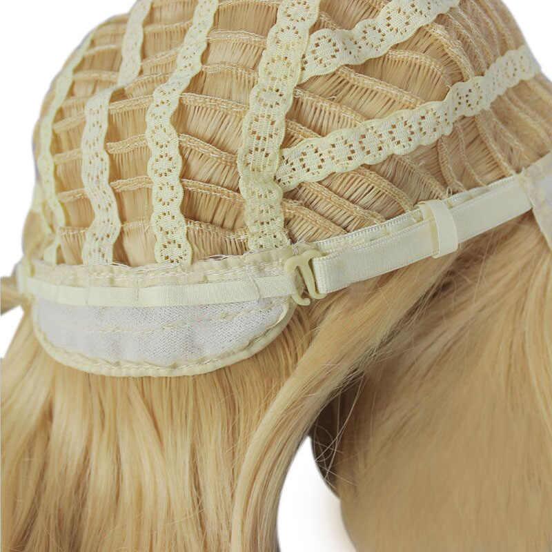 Mcoser 80 cm longo ondulado cosplay peruca dois rabo de cavalo mix bule cabelo sintético resistente ao calor 100% fibra de alta temperatura WIG-077A