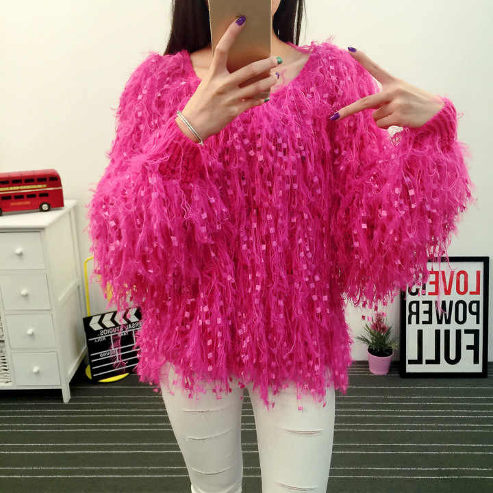 Poncho Pullover Sweater Women New Rushed Regular Standard Free Shipping 2019 Autumn And Winter Handmade Tassel Knitting Korean