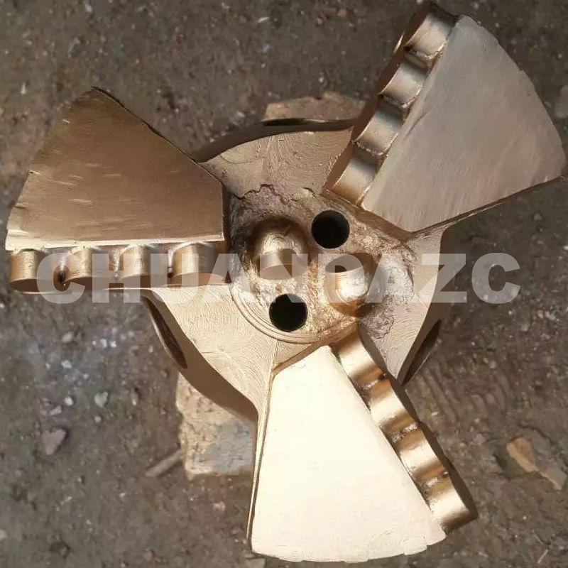 Factory Outlet 146mm three wing drag bits,PDC drag bit for mining drilling,water well drilling bit hot sale best pdc cutter bit 93mm pdc drag bit for water drilling