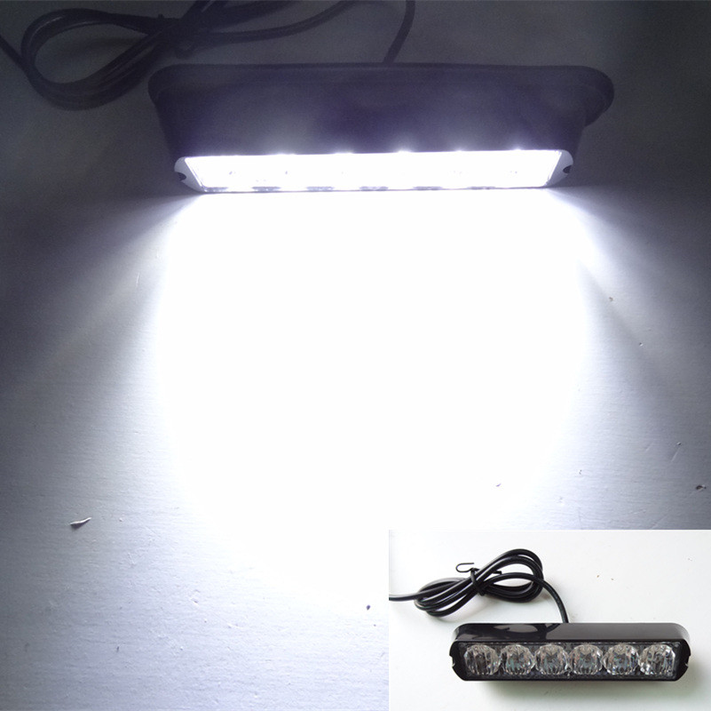 High Power 6 LEDs 6W 12V Car Styling Side DRL Flasher Dash Lights/Car LED Strobe Lightbars/Warning Lights/Mini Lightbars/astra j