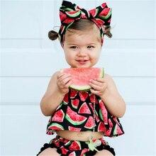 2018 Summer 3PCS Set Toddler Kids Baby Girl Clothes Watermel