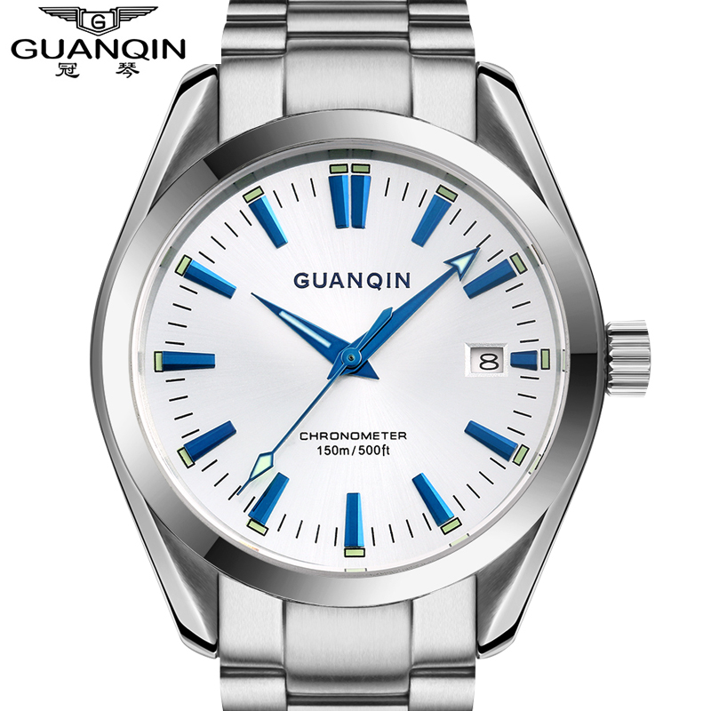все цены на 2015 Business Watches Men Luxury Brand GUANQIN Men Wristwatches automatic Mechanical Watches