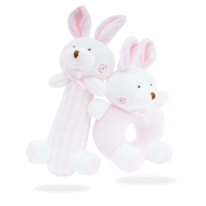 Image 2 - Newborn Cartoon Baby Boy Girl Rattles Infant Animal Hand Bell Kid Plush Toy Development Gifts Toddler Baby Toys 0 12 months