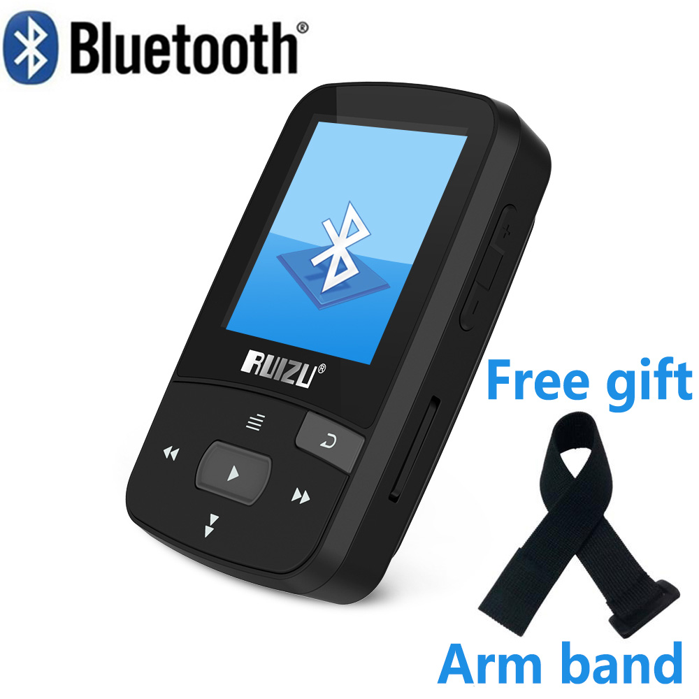 RUIZU X50 Sport Bluetooth MP3 pemain muzik Perakam FM Radio Supprot SD Card Clip Bluetooth MP3 player 8GB PK RUIZU X06 X18 X26