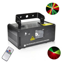 Red Green Yellow Laser Stage Lighting Scanner DMX 512 IR Remote 200mW Effect Equipment DJ Dance Party Show Mini Projector Lights