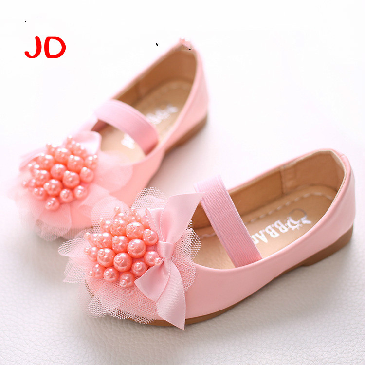 Girls White Shoes Models Bowknot Princess Shoes Light Leather Korean Students 2 Color Baby Leather Shoes For Children New