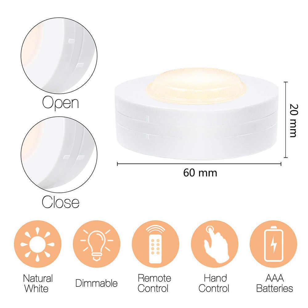 Затемнения светодиодный свет под кабинет Портативный Ночной свет с контроллером шкаф лампа для Спальня Шкаф Кухня Холл освещение