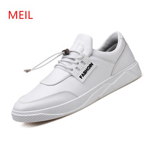 Mens Shoes Casual Luxury Leather Sneakers Men Casual Breathable Shoes Men Black White Sneakers Waterproof Hard-Wearing Flats ecco fashion casual men sneakers genuine cow leather shoes mens business breathable waterproof casual sports shoes