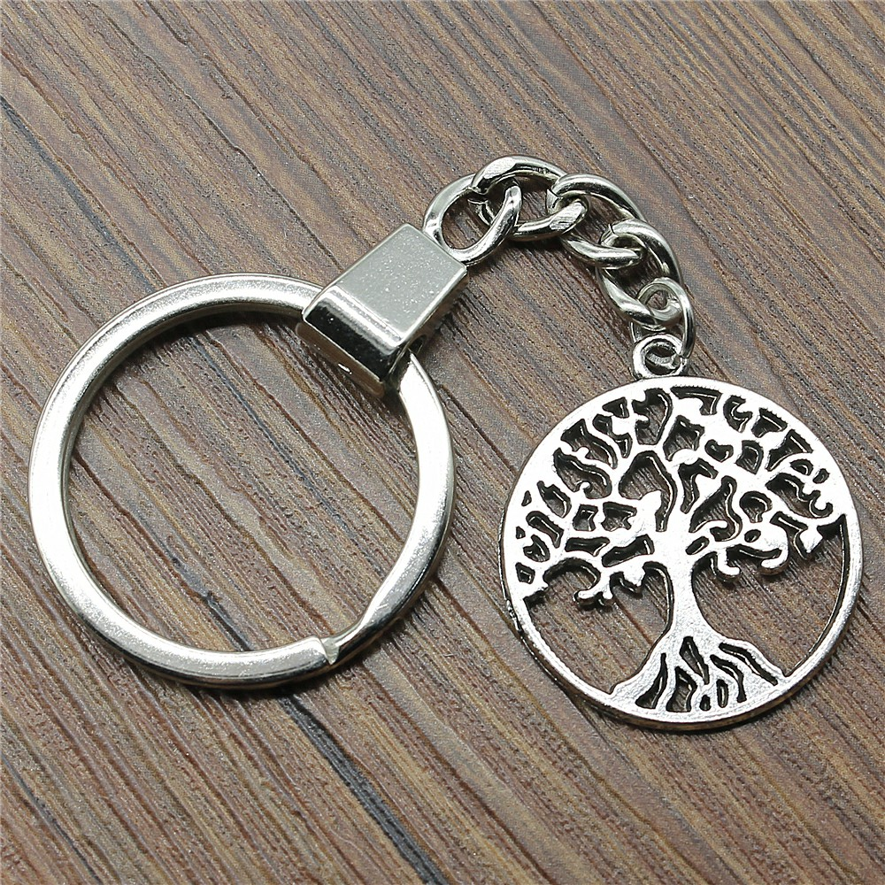 25x25mm Tree Of Life Keychain Men Jewelry New Fashion Keychain Party Gift Dropshipping Jewellery