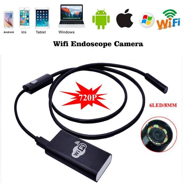 Wi-fi Для iPhone Android 2.0MP Эндоскоп 8 мм 2 м СВЕТОДИОДНЫЕ Трубки Змея Инспекции Камеры