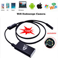 Wifi For iPhone Android Endoscope 2.0MP 8mm 2m LED Tube Snake Inspection Camera