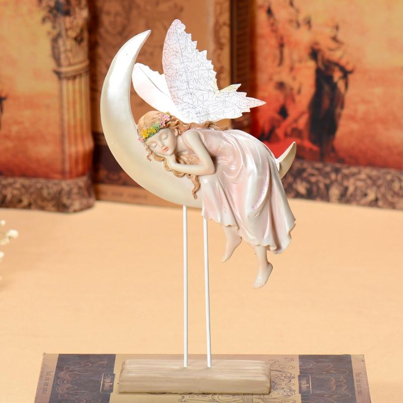 angel fairy sleeping angel wedding decoration Angels gifts resin home decoration Beautiful Girl