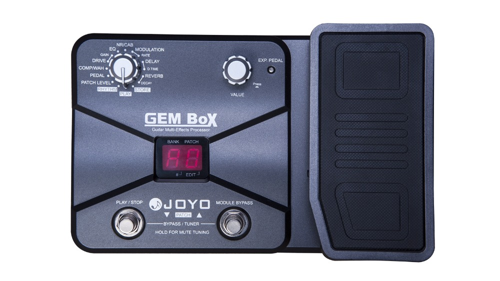 JOYO Guitar Multi-Effects Processor Pedal LCD 8 Effect Modules 25 Drive Sounds 40 User Patches 40 Drum Machine Patterns mooer vem box 8 effect modules multi guitar processor effects pedal supports loop vocoder including 54 types portable vocal