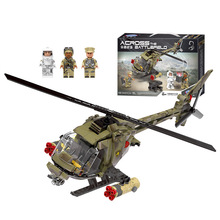 Xingbao Military war Fighting Helicopt building blocks aircraft plane figure bricks Compatible With toys children gift