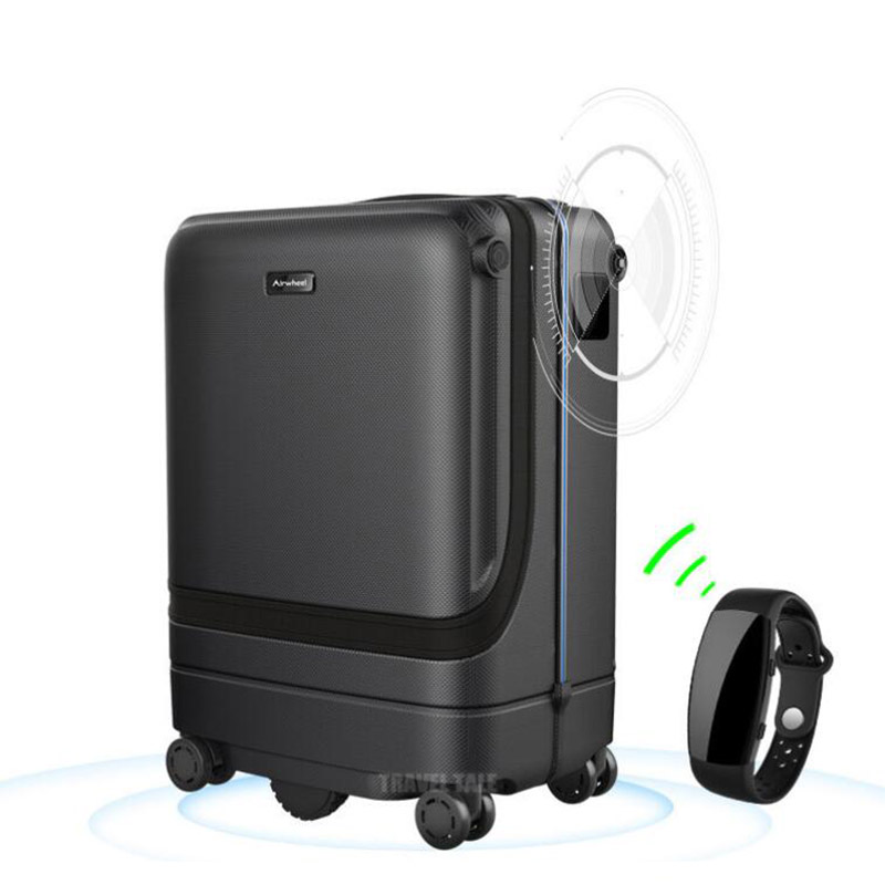 CARRYLOVE Trolley-Bag Travel-Suitcase Electronic-Rolling-Luggage Smart-Following 20--Inch