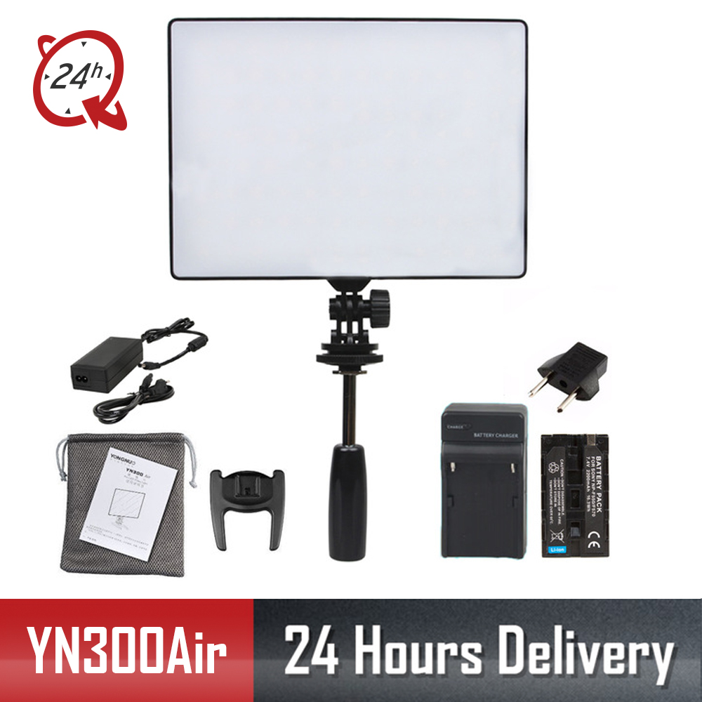 YONGNUO Official YN300 Air YN 300 Air Pro LED Camera Video Light with Battery Charger kit