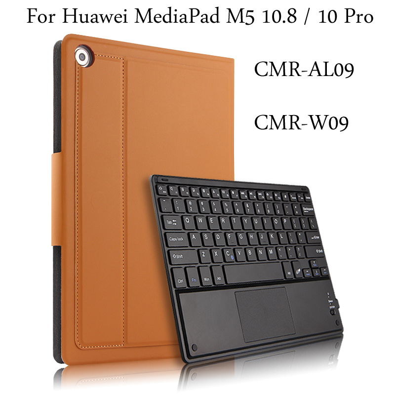 Case For Huawei MediaPad M5 10.8 / 10 Pro CMR-AL09 CMR-W09 Protective Wireless Bluetooth keyboard Tablet PC cover + Gift case for huawei mediapad m5 10 8 inch cmr al09 wireless bluetooth keyboard protective mediapad m5 10 pro 10 8 tablet cover case