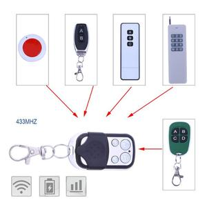 Image 4 - 4 Channel Wireless Remote Control Duplicator Copy Learning Code RF Remote Control Key for Electric Gate Garage Key 315/433MHz