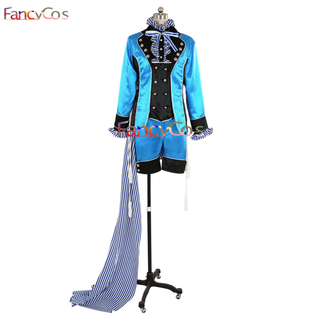 Halloween Black Butler Ciel Phantomhive Black Butler Book of Circus Cosplay Costume Adult Deluxe High Quality Custom Made