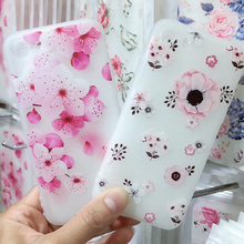 Emboss Floral Phone Case For iPhone X XS XR Xs Max 3D Relief Flower Soft TPU Silicone Cover 6 6s 7 8 Plus Coque
