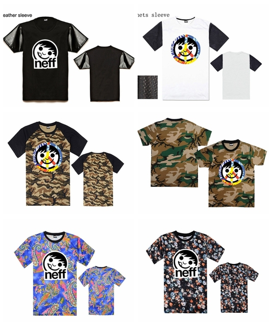 Camiseta Camisetas Camisa Masculina Hombres Manga De Neff 6xWwnqd6Y