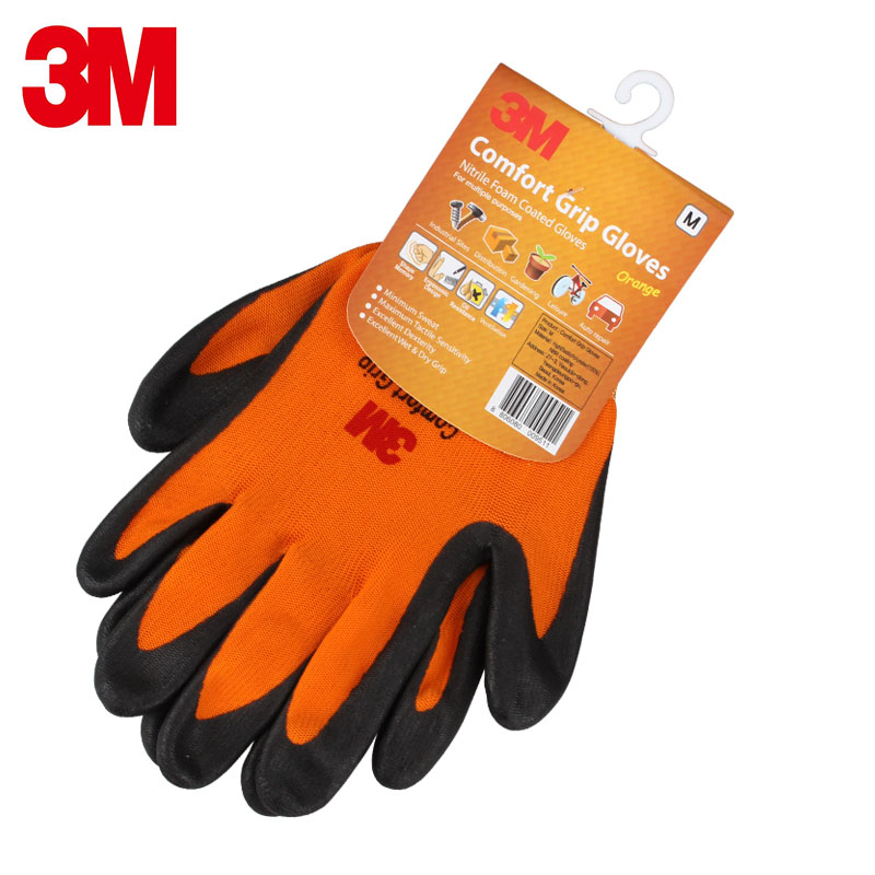 Image 4 - 3M protection gloves Breathable Dipping working gloves Wearable Non slip Machine repair Labour protection glove-in Safety Gloves from Security & Protection