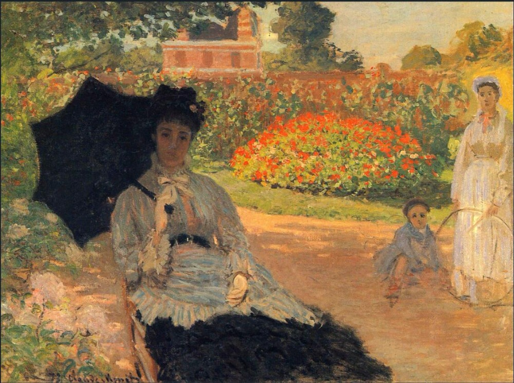 High quality Oil painting Canvas Reproductions Camille Monet in the Garden (1873) By Claude Monet hand paintedHigh quality Oil painting Canvas Reproductions Camille Monet in the Garden (1873) By Claude Monet hand painted
