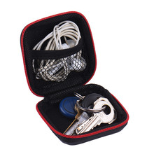 New Original Earphone Wire Storage Box Data Line Cables High End Headphones Container Case Earbuds SD Card Hold PU Charms Boxs
