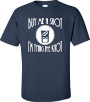 T Compagnie D'impression de T-shirt Ras Du Cou Adulte Acheter Moi Un Coup je suis Attachant Le Noeud Baccalauréat ette Partie Hommes Short Grand T chemise