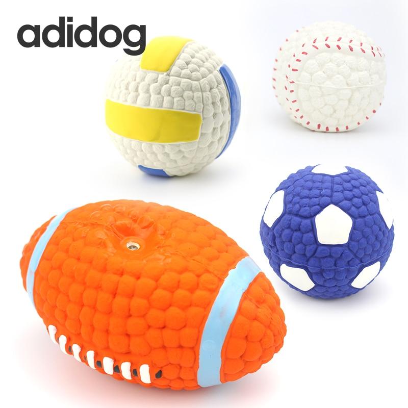Hund Spielzeug Sound Feste Ausbildung Gummiball Widerstand Zu Beißen Spielzeug Hohe Qualität Chew Balls Für Kleine Große Hunde Quietschenspielzeug