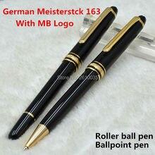 Luxury Germany brand Meisterstck 163 monte black resin roller ball pen/ball pen with MB Logo school office supplies monte pens