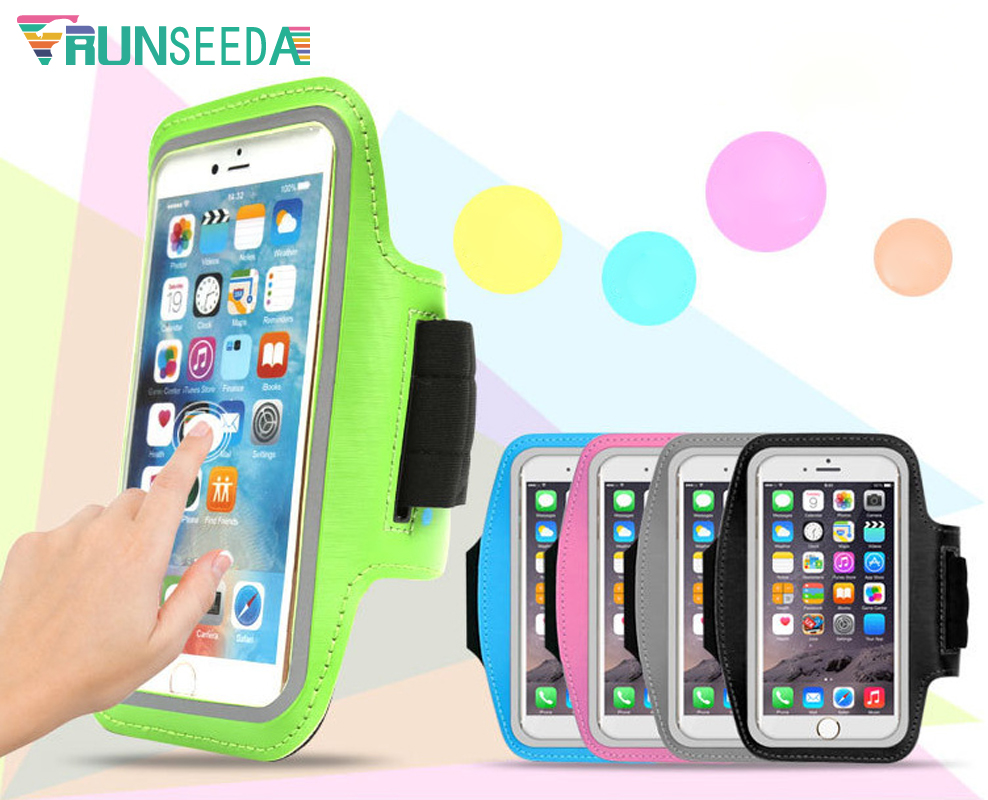 Runseeda Running Sports Armband Bag Waterproof Mobile Phones Arm Bag Cell Phone Pouch For Jogging Fishing Cycling Riding Fitness