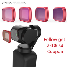 In Stock PGYTECH For DJI OSMO Pocket Filters set Professional Filter UV CPL ND8 ND64 ND 64 PL Gradual Version