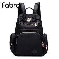 Fabra New Waterproof Unisex Backpack Women Solid Color Students Nylon Backpacks For Teenager Girls Boys School