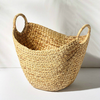 Height 38cm 3 Color Pure Hand Woven Exquisite Seaweed Woven Storage Baskets Toy Storage Box Dirty