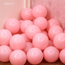 цена Light pink balloon 50pcs/lot10 inch thick helium ballons birthday party decorations adult baloons wedding supplies baby shower
