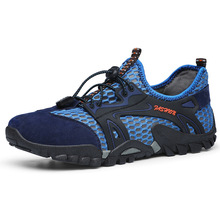 Large size summer breathable hiking shoes mens mesh sports outdoor casual sandals
