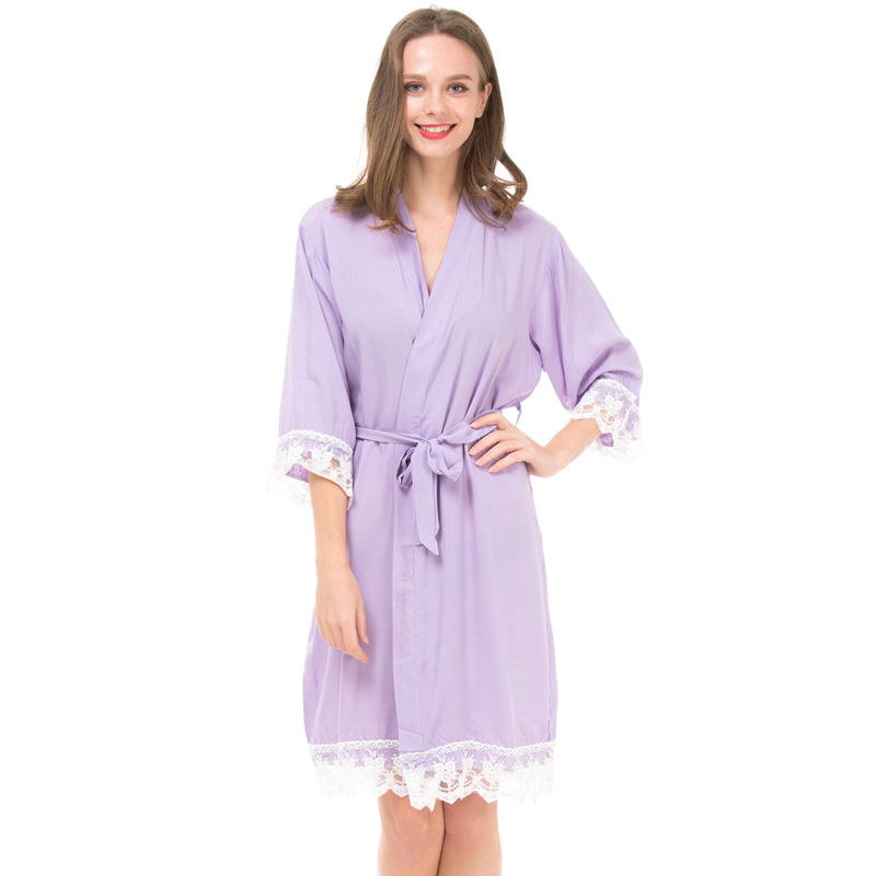 Detail Feedback Questions about Personalized Robe Nightgown Cotton Lace  Pajamas For Wedding Party Bride Bridesmaid Robe Home wear Bathrobe Lace  Dressing ... 93041a39e